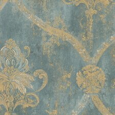 "Grand Chateau 32.7' x 20.5"" Regal Damask Wallpaper"