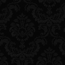 "Simply Silks III 32.7' x 20.5"" Damask Wallpaper"