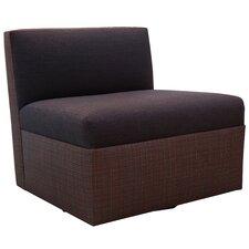 Armless Swivel Modular Chair With Cushion