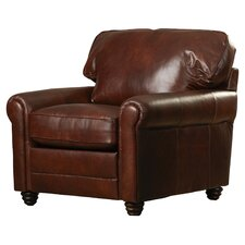 Clairsville Italian Leather Club Chair