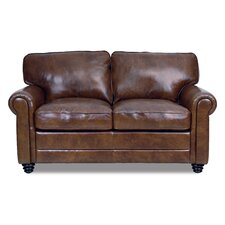 Clairsville Leather Loveseat