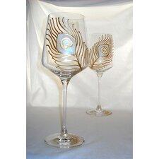 Peacock 22 oz. Wine Glass