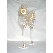 Peacock 6.75 oz.Flute Glass (Set of 2)