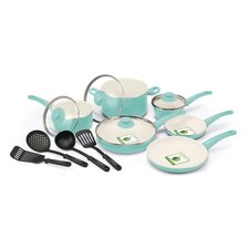 Soft Grip 14-Piece Non-Stick Cookware Set