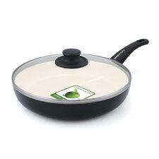 """Soft Grip 12"""" Non-Stick Frying Pan with Lid"""