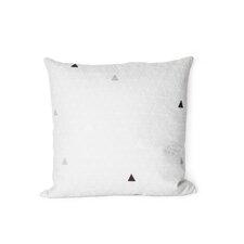 Printed Triangle Cotton Throw Pillow