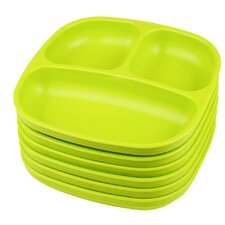 """7.38"""" Divided Plate (Set of 6)"""