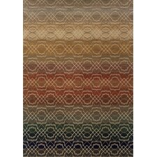 Medina Geometric Grey/Brown Area Rug
