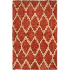 Frederick Tajine Hand-Tufted Orange Area Rug