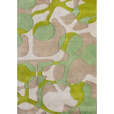 Oakland Hand-Tufted Green Area Rug