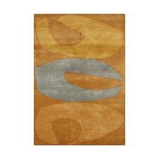 Shady Hand-Tufted Orange Area Rug
