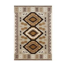 Siltcoos Hand-Tufted Taupe/Brown Area Rug