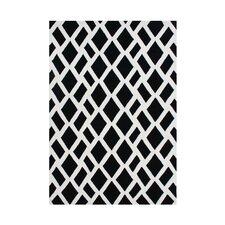 Venator Hand-Tufted Black/White Area Rug
