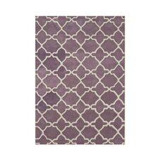 Wauna Hand-Tufted Purple/White Area Rug