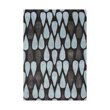 Wemme Hand-Tufted Charcoal/Blue Area Rug