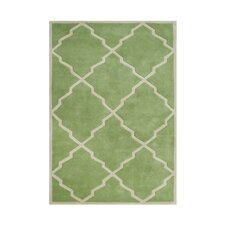 Whiteson Hand-Tufted Green Area Rug