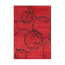 Wilderville Hand-Tufted Red Area Rug