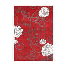 Wimer Hand-Tufted Red Area Rug