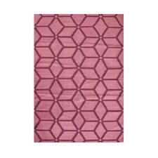Waldport Hand-Tufted Pink Area Rug