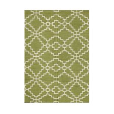 Wilsonville Hand-Tufted Lime Green Area Rug