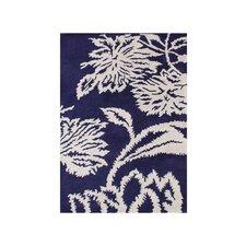 Woodburn Hand-Tufted Blue/White Area Rug