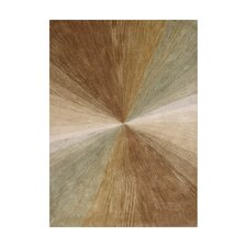 Nagar Hand-Tufted Brown Area Rug
