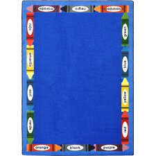 Hand-Tufled Blue Area Rug