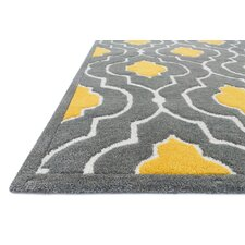 Hand-Woven Gray/Gold Area Rug