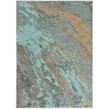 Agave Marble Teal/Gray Area Rug