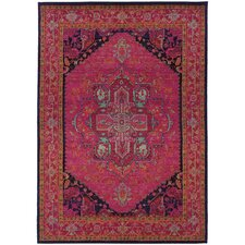 Aura Updated Traditional Pink/Blue Area Rug
