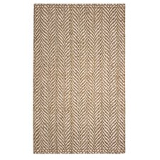 Hines Hand-Woven Brown/White Area Rug