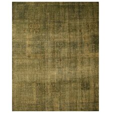 Lalsot Hand-Woven Green Area Rug