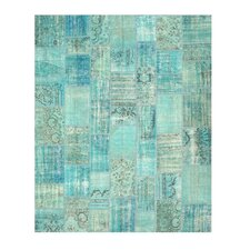 Narsipatnam Hand-Knotted Green Area Rug