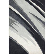 Budva Hand-Tufted Black/White Area Rug