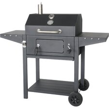 "25"" Portable Charcoal Grill with Cart"