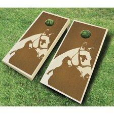 Horse 10 Piece Cornhole Set