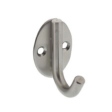 Stainless Steel Oval Hat Wall Hook