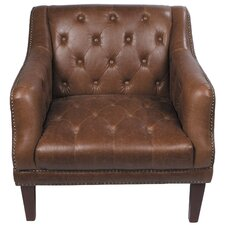 Tufted Leather Loung Chair