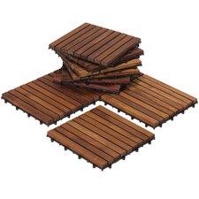 """EZ-Floor Interlocking 12"""" x 12"""" Snap-In Deck Tiles in Oiled"""