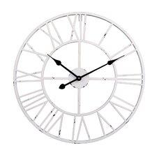 Roman Round Clock in White