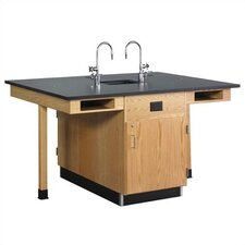 12 Student Double Faced Workstation With Door & Drawer
