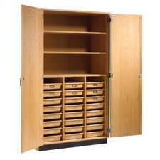 "84"" H x 48"" W x 22"" D Tote Tray and Shelving Storage Cabinet"