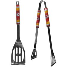 NFL 2 Piece Stainless Steel BBQ Grilling Tool Set