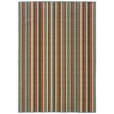 Newfield Green/Blue Indoor/Outdoor Area Rug