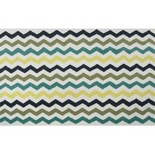 Humphries Hand-Hooked Blue/Green Area Rug