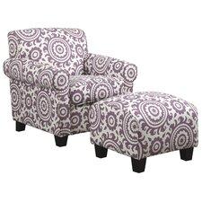 Clarke Arm Chair and Ottoman