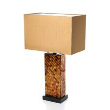 "Leanna 22.25"" H Table Lamp with Rectulanger Shade"