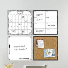 Kerri 4 Piece Organizer Whiteboard Wall Decal Set