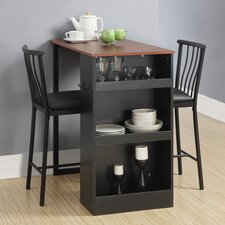 Loftus 3 Piece Counter Height Pub Table Set