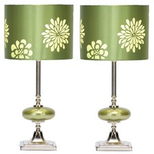 "19"" H Table Lamp with Drum Shade (Set of 2)"